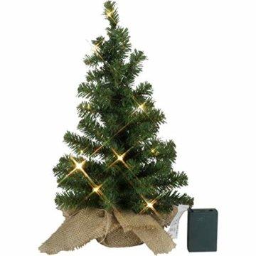 Kamaca LED Künstlicher Weihnachtsbaum Tannenbaum im Beutel mit Timer und 10 warm weissen LED Höhe 45 cm zum individuellen Dekorieren (im Jute Sack 45 x 25 cm) - 3
