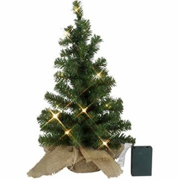Kamaca LED Künstlicher Weihnachtsbaum Tannenbaum im Beutel mit Timer und 10 warm weissen LED Höhe 45 cm zum individuellen Dekorieren (im Jute Sack 45 x 25 cm) - 1