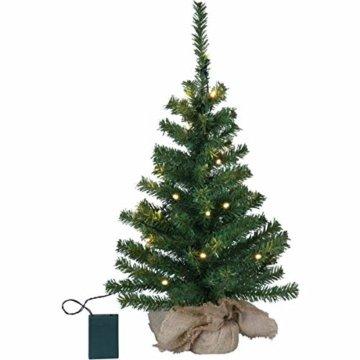 Kamaca LED Künstlicher Weihnachtsbaum Tannenbaum im Beutel mit Timer und 10 warm weissen LED Höhe 45 cm zum individuellen Dekorieren (im Jute Sack 45 x 25 cm) - 5