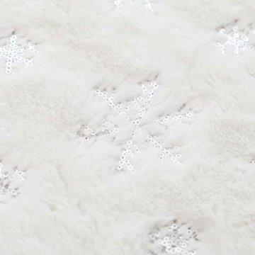Kappha Weißer Plüsch Weihnachtsbaum Rock Christbaumdecke Rund Weiß Weihnachtsbaumdecke Christbaumständer Teppich Decke Weihnachtsbaum Deko, 122 cm - 9
