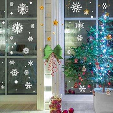 KATELUO 190 Schneeflocken Fensterbild,Fensterbilder Weihnachten, Schneeflocken Aufkleber Statisch Fensterbilder,für Weihnachts-Fenster Dekoration,Schaufenster, Vitrinen, Glasfronten - 2