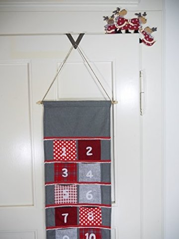 khevga Weihnachtsdeko Purzelnde Elche für Türrahmen-Deko aus Holz (Purzelnde Elche) - 7