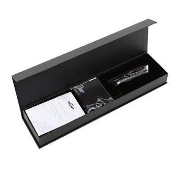 Kitchen Emperor Küchenmesser, Kochmesser 20 cm, Allzweckmesser Scharfe Klinge, Prämie Rostfreier Stahl Chef Messer mit pakakaholzgriff - 7