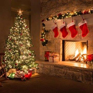 Kolpop LED Lichterkette Batterie [4 Pack], Lichterketten für Zimmer, 5m 50er Micro LED Lichterkette Draht Innen Batteriebetrieben für Party Weihnachten Weihnachtsbaum Halloween Hochzeit Deko(Warmweiß) - 4