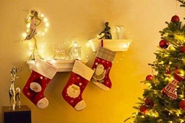 Kolpop LED Lichterkette Batterie [4 Pack], Lichterketten für Zimmer, 5m 50er Micro LED Lichterkette Draht Innen Batteriebetrieben für Party Weihnachten Weihnachtsbaum Halloween Hochzeit Deko(Warmweiß) - 5