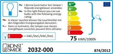 Konstsmide 2032-000 Baumkette mit Topbirnen / für Innen (IP20) / 230V Innen / teilbarer Stecker / 25 klare Birnen / grünes Kabel - 4