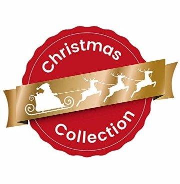 KREBS & SOHN 12er Set Weihnachtskugeln aus Glas - Christbaumschmuck Christbaumkugeln Weihnachtsdeko - Weiß, Lila, Silber - 5