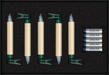 Krinner LUMIX SuperLight Elfenbein kabellose Power LED Christbaumkerzen 5er Erweiterungs-Set (In-& Outdoor IP44), ABS Kunststoff, 1.7 x 1.7 x 12.5 cm - 4