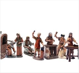 Krippen Figuren Delprado J.L.Mayo Artisans 7 Zahlen Reihe 11 cms BEL957 - 1