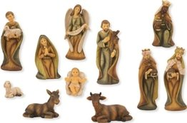 Krippenfigur, Krippenfiguren modern 11-teilgi, Holzoptik für 11cm Figuren - 1