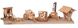 Krippenzubehör 6-tlg. Krippe Zubehör aus Holz - 1