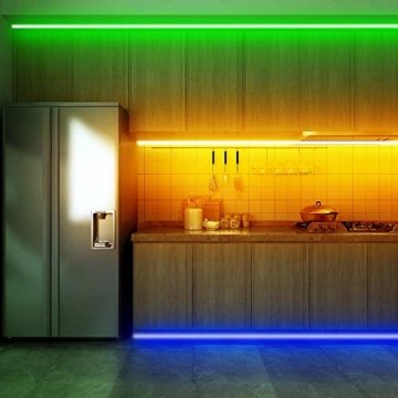 Ksipze LED Strip 10m RGB LED Lichterkette Streifen Lichtband mit Fernbedienung,Farbwechsel Hell 5050 LED Band Leiste Lichterketten Klebeband Selbstklebende für Zuhause, Schrank, Schlafzimmer(2 * 5M) - 2