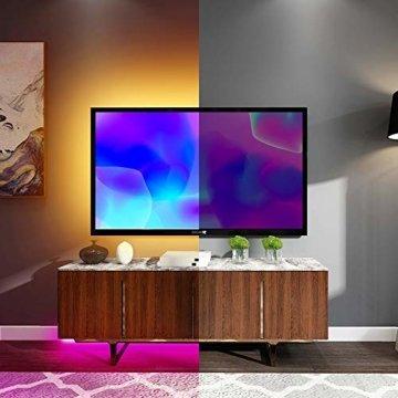 Ksipze LED Strip 5m RGB LED Lichterkette mit Fernbedienung Farbwechsel 5050 LED Streifen,Led Leiste,Led Band für die Beleuchtung von Häusern Küchenbett TV - 3
