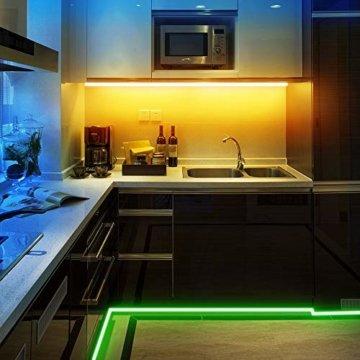 Ksipze LED Strip 5m RGB LED Lichterkette mit Fernbedienung Farbwechsel 5050 LED Streifen,Led Leiste,Led Band für die Beleuchtung von Häusern Küchenbett TV - 4