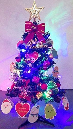 Künstlicher Weihnachtsbaum, outgeek Tannenbaum Christbaum 60cm(24'') grün Weihnachtsbaum klein mit Beleuchtung Multicolor LED und Weihnachtsschmuck (60cm mit LED) - 4