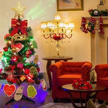 Künstlicher Weihnachtsbaum, outgeek Tannenbaum Christbaum 60cm(24'') grün Weihnachtsbaum klein mit Beleuchtung Multicolor LED und Weihnachtsschmuck (60cm mit LED) - 5