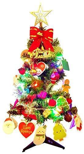 Künstlicher Weihnachtsbaum, outgeek Tannenbaum Christbaum 60cm(24'') grün Weihnachtsbaum klein mit Beleuchtung Multicolor LED und Weihnachtsschmuck (60cm mit LED) - 6