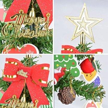 Künstlicher Weihnachtsbaum, outgeek Tannenbaum Christbaum 60cm(24'') grün Weihnachtsbaum klein mit Beleuchtung Multicolor LED und Weihnachtsschmuck (60cm mit LED) - 8