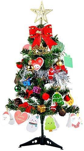 Künstlicher Weihnachtsbaum, outgeek Tannenbaum Christbaum 60cm(24'') grün Weihnachtsbaum klein mit Beleuchtung Multicolor LED und Weihnachtsschmuck (60cm mit LED) - 9