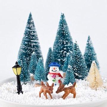 KUUQA 31 Stücke Mini Modell Schnee Frost Bäume Flasche Pinsel Bäume Kunststoff Winter Schnee Ornamente Tabletop Modell Bäume für DIY Wohnkultur Tischdekoration Diorama Modelle - 3