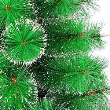 LARS360 180cm Grüne Tannennadeln mit Schnee-Effekt Künstliche Weihnachtsbaum Christbaum Tannenbaum inkl. Metallständer mit Klappsystem Für Aussen Weihnachtsdeko Innen Weihnachten-Dekoration - 3