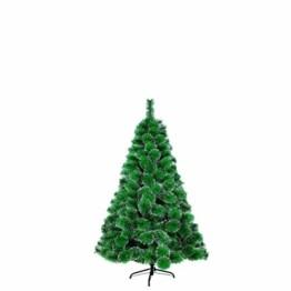 LARS360 180cm Grüne Tannennadeln mit Schnee-Effekt Künstliche Weihnachtsbaum Christbaum Tannenbaum inkl. Metallständer mit Klappsystem Für Aussen Weihnachtsdeko Innen Weihnachten-Dekoration - 1