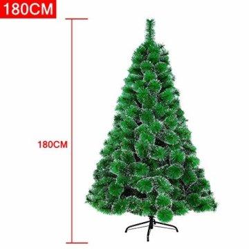 LARS360 180cm Grüne Tannennadeln mit Schnee-Effekt Künstliche Weihnachtsbaum Christbaum Tannenbaum inkl. Metallständer mit Klappsystem Für Aussen Weihnachtsdeko Innen Weihnachten-Dekoration - 7