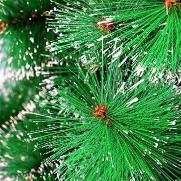 LARS360 180cm Grüne Tannennadeln mit Schnee-Effekt Künstliche Weihnachtsbaum Christbaum Tannenbaum inkl. Metallständer mit Klappsystem Für Aussen Weihnachtsdeko Innen Weihnachten-Dekoration - 8