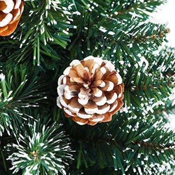 LARS360 90cm Künstlicher Weihnachtsbaum 3ft Christbaum Tannenbaum Grüne PVC mit Schnee-Effekt inkl. Ständer Künstliche Tanne mit Klappsystem Für Aussen Weihnachtsdeko Innen - 5