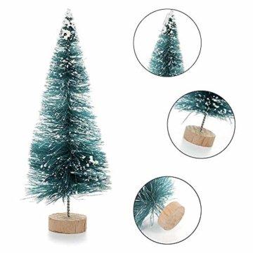 LATERN 28 Stück Künstlicher Weihnachtsbaum Mini Christbaum Grün Tannenbaum künstliche Tanne für Tischdeko, DIY, Schaufenster - 3