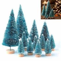 LATERN 28 Stück Künstlicher Weihnachtsbaum Mini Christbaum Grün Tannenbaum künstliche Tanne für Tischdeko, DIY, Schaufenster - 1