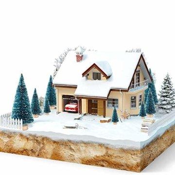 LATERN 28 Stück Künstlicher Weihnachtsbaum Mini Christbaum Grün Tannenbaum künstliche Tanne für Tischdeko, DIY, Schaufenster - 4