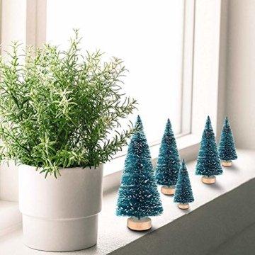 LATERN 28 Stück Künstlicher Weihnachtsbaum Mini Christbaum Grün Tannenbaum künstliche Tanne für Tischdeko, DIY, Schaufenster - 6