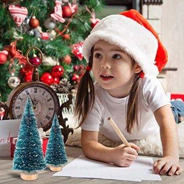 LATERN 28 Stück Künstlicher Weihnachtsbaum Mini Christbaum Grün Tannenbaum künstliche Tanne für Tischdeko, DIY, Schaufenster - 7
