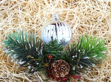 Lauscha 40er Christbaumschmuck, Weihnachtsbaumkugel Set, Eislack Weiß Silber Zacken, 38 Kugeln+Spitze, Handarbeit - 3