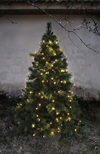 LED-Baumvorhang, 160-teilig Farbe: warm white, Kabel: schwarz 8 Stränge für ca. 180 - 200 cm Bäume, outdoor, mit Trafo - 3