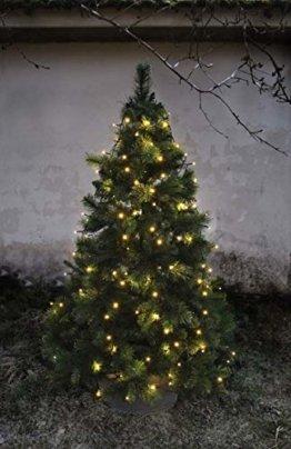 LED-Baumvorhang, 160-teilig Farbe: warm white, Kabel: schwarz 8 Stränge für ca. 180 - 200 cm Bäume, outdoor, mit Trafo - 1