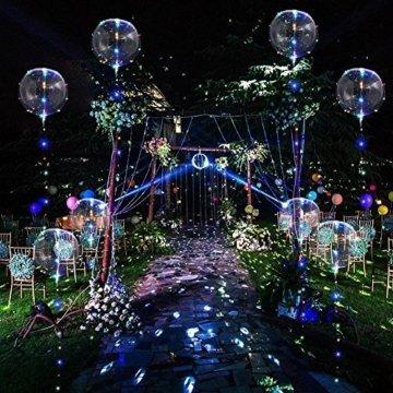 LED Bobo Balloons Transparente Runde Form Balloons Party Blinklicht Ballons Perfekt für Valentinstag Party Hochzeit Urlaub Dekoration (10PCS) - 4