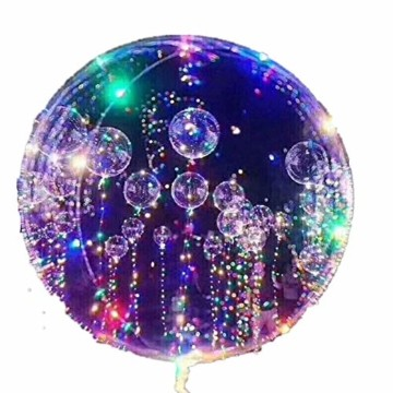 LED Bobo Balloons Transparente Runde Form Balloons Party Blinklicht Ballons Perfekt für Valentinstag Party Hochzeit Urlaub Dekoration (10PCS) - 1