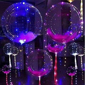 LED Bobo Balloons Transparente Runde Form Balloons Party Blinklicht Ballons Perfekt für Valentinstag Party Hochzeit Urlaub Dekoration (10PCS) - 6