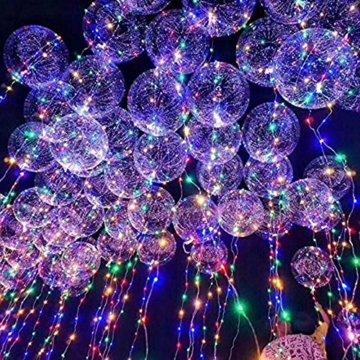 LED Bobo Balloons Transparente Runde Form Balloons Party Blinklicht Ballons Perfekt für Valentinstag Party Hochzeit Urlaub Dekoration (10PCS) - 7
