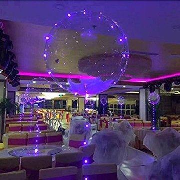 LED Bobo Balloons Transparente Runde Form Balloons Party Blinklicht Ballons Perfekt für Valentinstag Party Hochzeit Urlaub Dekoration (10PCS) - 9