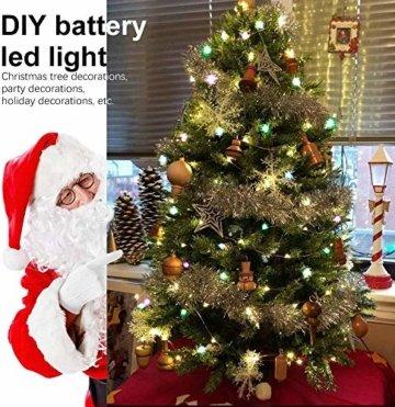 LED Bunt Lichterkette Innen, 16 Farben 10M 100 LED USB Kupferdraht Lichterkette Außen mit Fernbedienung & 4 Modi, Wasserdichte IP68 Farbwechsel Lichterkette für Zimmer, Weihnachten, Party, Hochzeit - 3