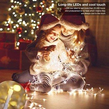 LED Lichterkette 100M 800 LEDs Ollny Wasserdicht Lichterkette Lang mit Fernbedienung & Timer 8 Modi Balkonbeleuchtung für Weihnachten Outdoor Innen Kinderzimmer Hochzeit Wohnzimmer, Kaltweiß - 2