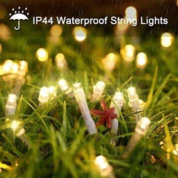 LED Lichterkette 100M 800 LEDs Ollny Wasserdicht Lichterkette Lang mit Fernbedienung & Timer 8 Modi Balkonbeleuchtung für Weihnachten Outdoor Innen Kinderzimmer Hochzeit Wohnzimmer, Kaltweiß - 6