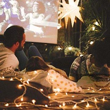 LED Lichterkette 100M 800 LEDs Ollny Wasserdicht Lichterkette Lang mit Fernbedienung & Timer 8 Modi Balkonbeleuchtung für Weihnachten Outdoor Innen Kinderzimmer Hochzeit Wohnzimmer, Kaltweiß - 8