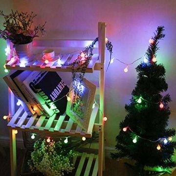 Led Lichterkette Kugeln,40er LED Lichterkette Batterie 8 Modus Lichterkette USB Strombetrieben Lichterkette mit Fernbedienung Wasserdicht Beleuchtung für Weihnachten Hochzeit Party Deko - 5