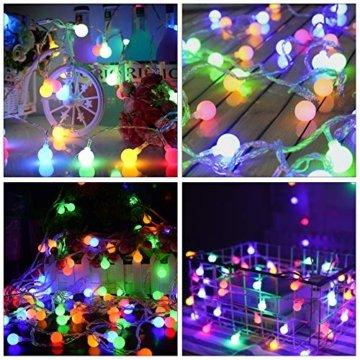 Led Lichterkette Kugeln,40er LED Lichterkette Batterie 8 Modus Lichterkette USB Strombetrieben Lichterkette mit Fernbedienung Wasserdicht Beleuchtung für Weihnachten Hochzeit Party Deko - 6