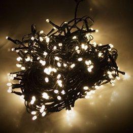 LED Lichterkette mit 180 LEDs Warmweiß 1,65m 1650cm| Beleuchtung für Innen & Außen | Garten Dekoleuchte Weihnachtsdekoration - 1