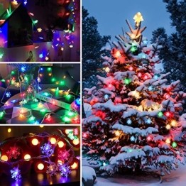 LED Lichterkette Schneeflocken - 6M 40 LED, HIBOER Weihnachten Usb Schneeflocke Lichterketten Warmweiß, Wasserdicht Beleuchtung Stimmungslichter für Garten Weihnachtsbaum Innen Außen - 1
